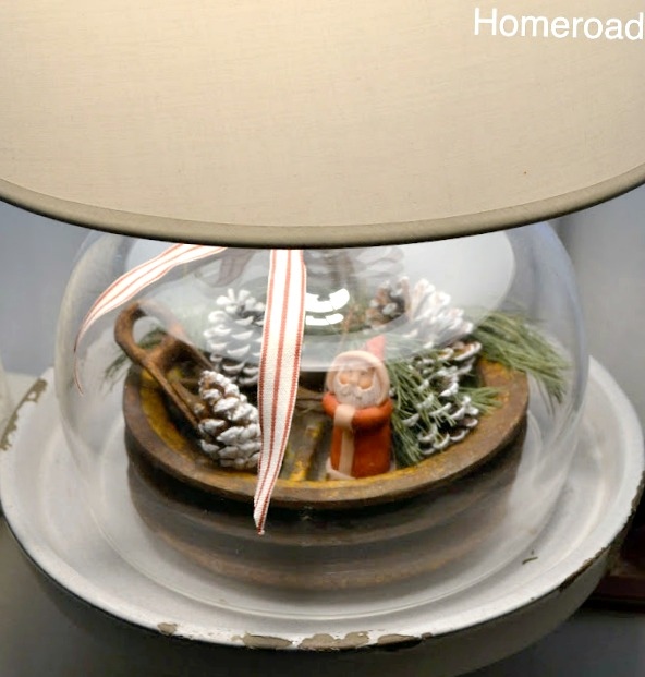 DIY Christmas Cloche Lamp