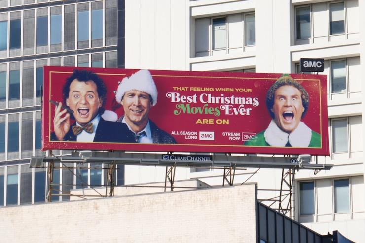 Best Christmas Movies Ever AMC billboard