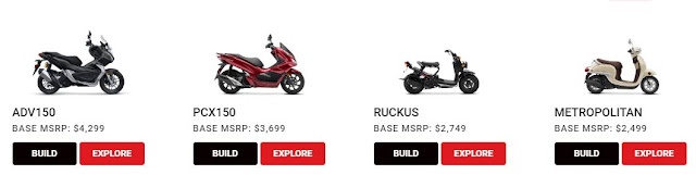 Lineup Motor Honda di Amerika Serikat