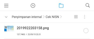 lokasi penyimpanan kartu NISN