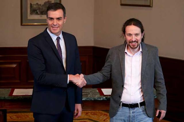 PSOE Y Podemos anuncian un gobierno  progresista