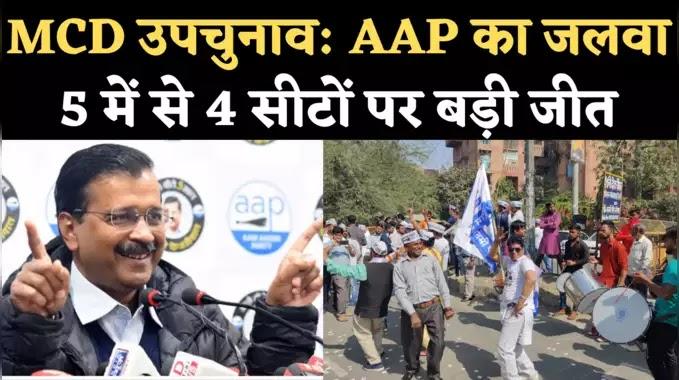 दिल्ली  MCD उपचुनाव में AAP की बड़ी जीत ,लगे जय श्री राम के नारे,BJP के नहीं खुले खाते