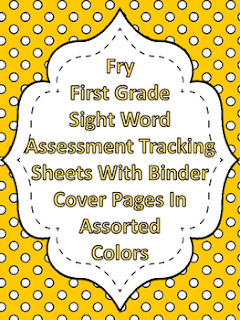 Fry First Grade Sight Word Tracking Binder