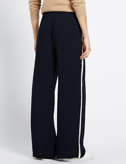 Marks and Spencer Wide Side Striped Trousers