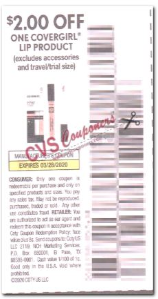 "2.00/1 Covergirl Lip Product  Coupon from ""SMARTSOURCE"" insert week of 2/23 (Exp 3/21)."