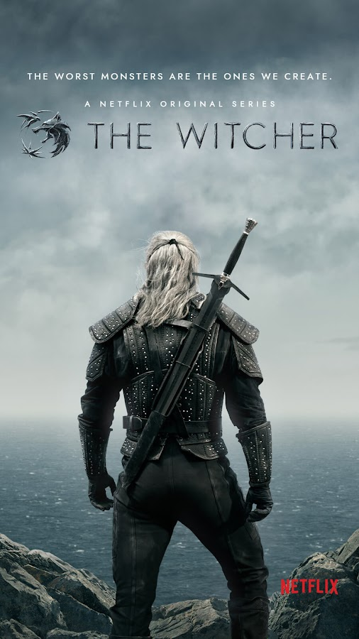 netflix the witcher season 1 poster sdcc 2019 henry cavill geralt of rivia