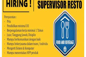 Lowongan Kerja Bandung Supervisor Resto OasiSiliwangi