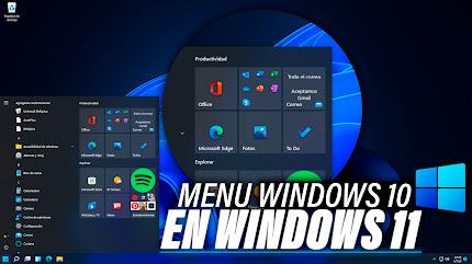 Como Poner MENU de Windows 10 en Windows 11