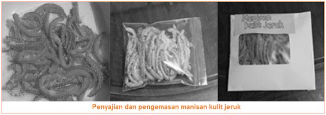 Penyajian dan pengemasan manisan kulit jeruk