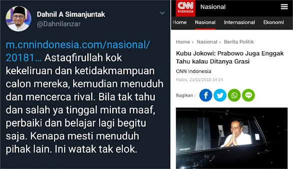 Salah Soal Grasi, Kubu Jokowi Bukannya Minta Maaf, Malah Menuduh Prabowo