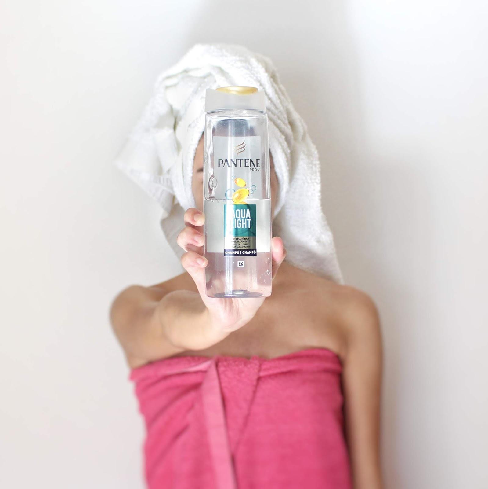 Melhor champô para cabelo oleoso: AQUA LIGHT Pantene