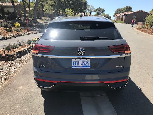 Rear view of 2020 Volkswagen Atlas Cross Sport