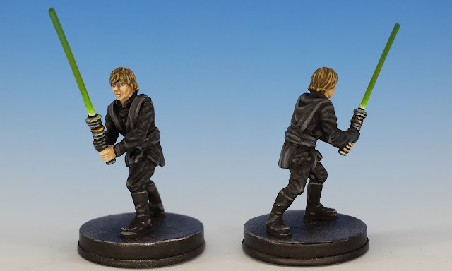 Luke Skywalker Jedi Knight, Imperial Assault (2016), painted miniature