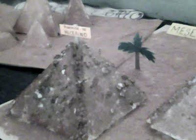 Algunas fotografías tomadas  a la maqueta de las pirámides de Egipto
