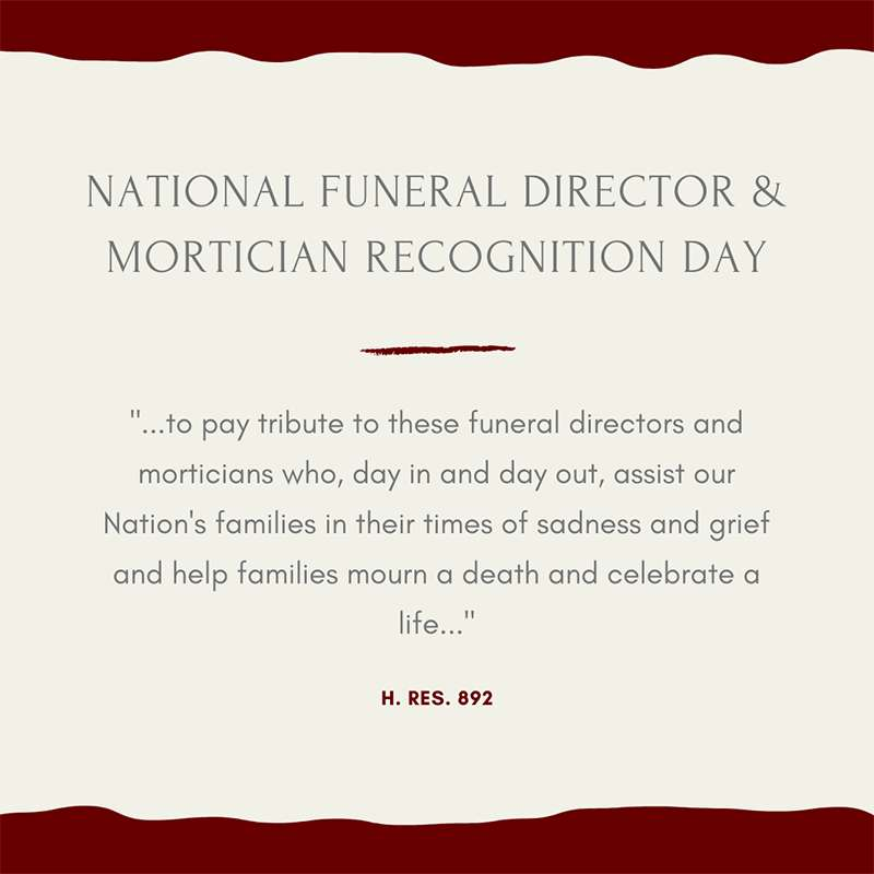 National Funeral Director and Mortician Recognition Day Wishes Pics