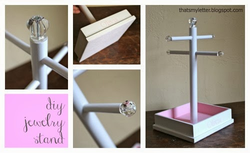 diy personalized jewelry stand details