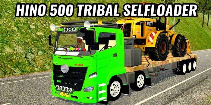 mod bussid truck hino 500 tribal selfloader