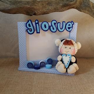 portafoto bimbo bambolotto soffice tessuto