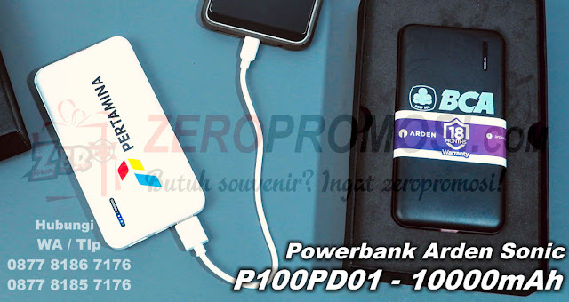 Jual Powerbank Arden Sonic 10000mAh P100PD01, Souvenir Powerbank P100PD01, Power Bank Promosi, Power Bank ARDEN, Power Bank Promosi, Souvenir Powerbank, Jual Power Bank Promosi - Souvenir PowerBank Arden