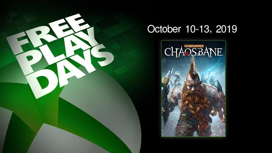 warhammer chaosbane xbox live gold free play days event xb1
