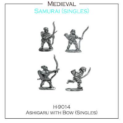 H-9014 Ashigaru with Bow SINGLES