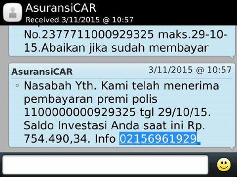 SMS Asuransi CAR
