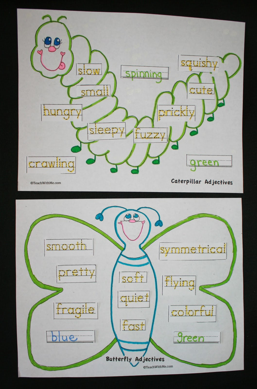 Caterpillar And Butterfly Adjectives