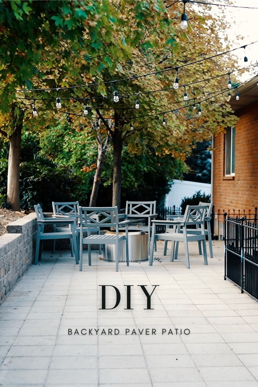 diy backyard paver patio advise