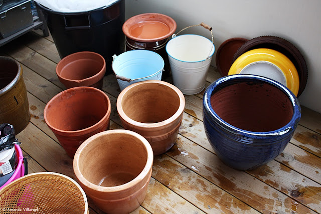 Our second-hand pots and containers for vegetable gardening