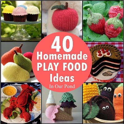 40 Homemade Play Food Ideas from In Our Pond  #giftguide #playkitchen #christmas #holidays #birthday #playfood