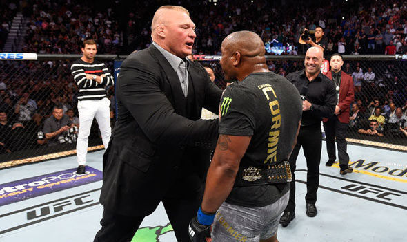Daniel Cormier Threatens To Slap Brock Lesnar In The Face