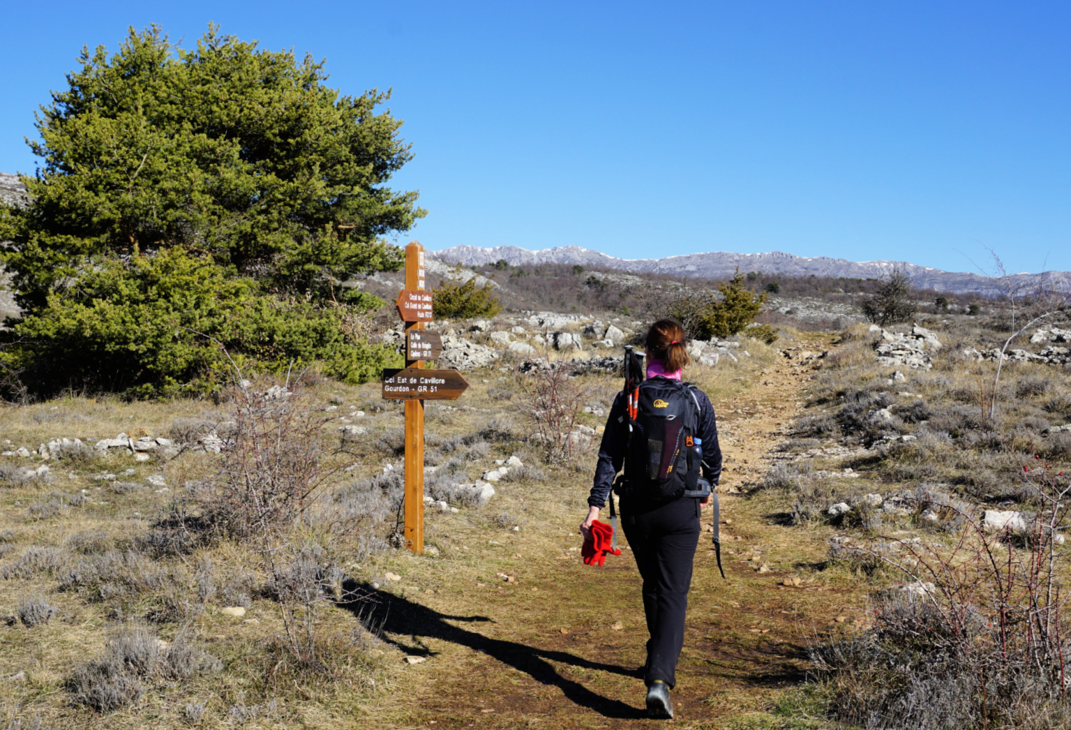 Joining the GR51 trail