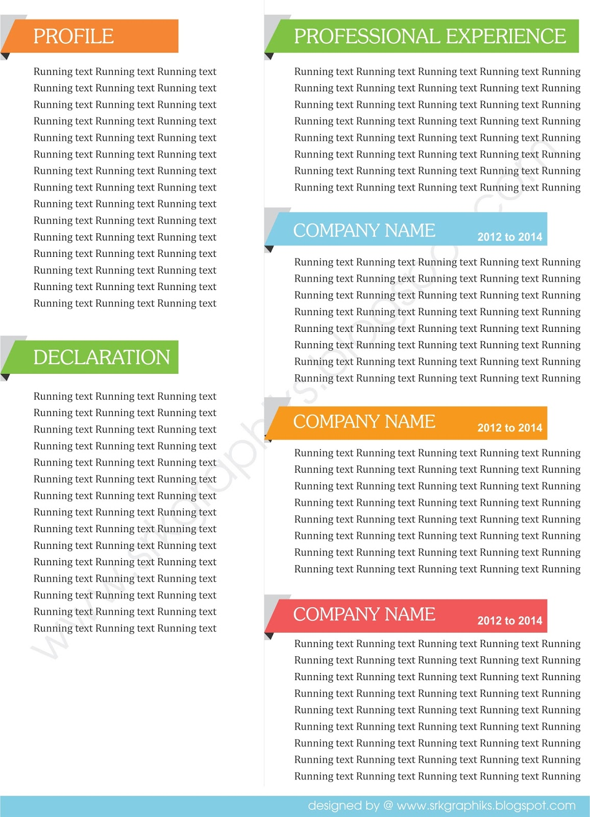 corporate resume templates - Corporate Resume Templates