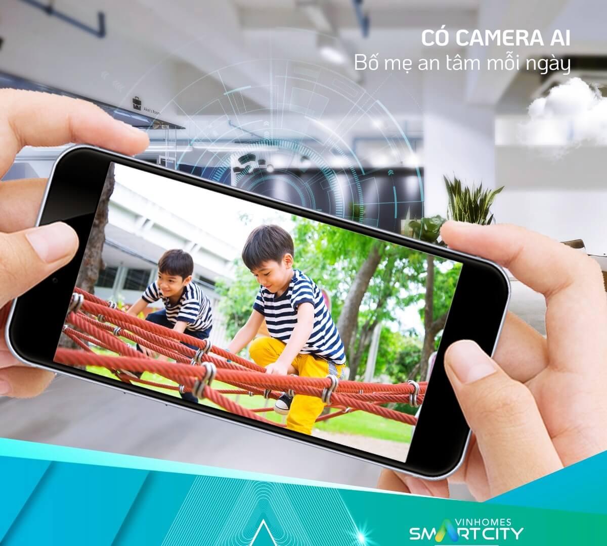 Camera AI kiểm soát trẻ nhỏ dễ dàng cùng Vinhomes Tây Mỗ Đại Mỗ