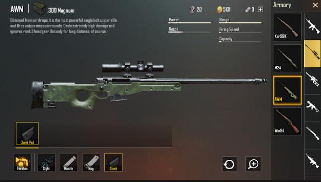 5 Senjata PUBG: Senapan Sniper Terbaik