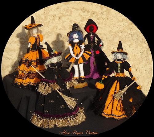 Collection Poupées sorcières d'Halloween