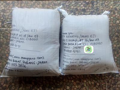 Benih Padi Pesanan   TEH NENENG Subang, Jabar.   (Setelah di Packing).