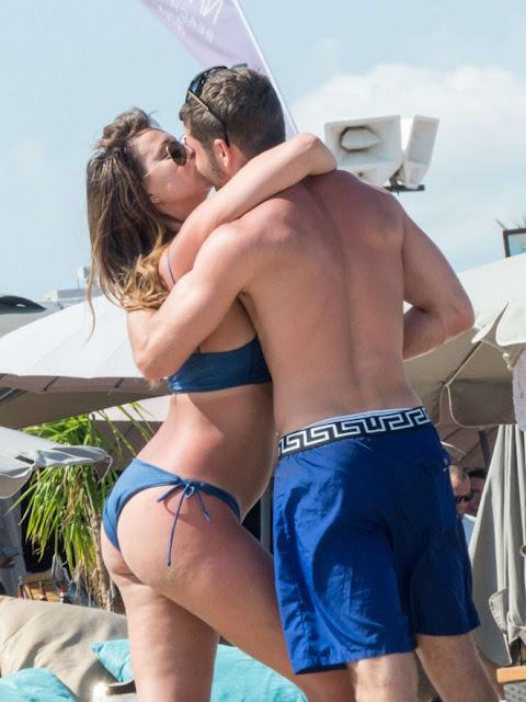 Ferne McCann in Blue Bikini in Ibiza