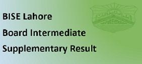Intermediate Supplementary Result 2020 BISE Lahore Board