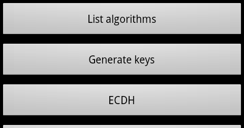 Using ECDH on Android