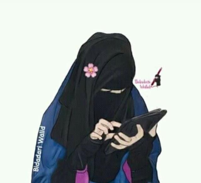 kartun muslimah dp fb twitter anggun