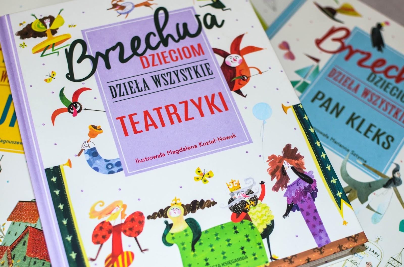 książki dla przedszkolaka, książki dla ucznia, blog, recenzja, teatrzyki Brzechwy, zabawa w teatr, Nasza Księgarnia,