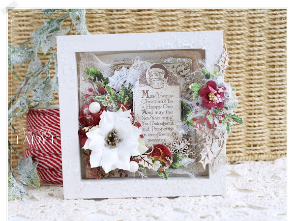 Altered Christmas Frame & Video Tutorial