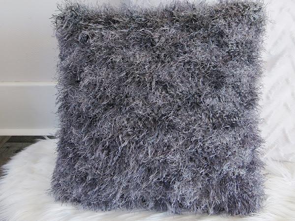 Crochet Shag Throw Pillow Free Pattern