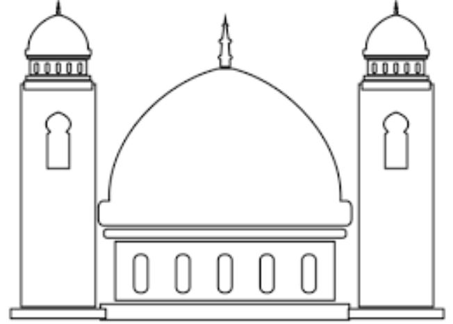 Mewarnai Gambar Masjid Untuk Anak Tk Nusagates