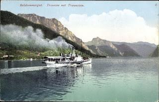 Traunstein und Erlakogel am Traunsee im Salzkammergut
