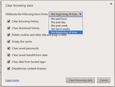 how to delete the cache in chrome