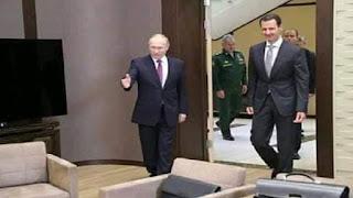 شاهد الإعلام الروسي ينشر مقطعاً لبشار أسد يسخر فيه من ترامب أمام بوتين (فيديو)