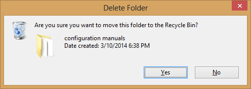 delete confirmation box