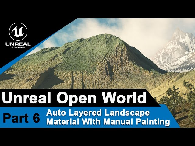 Unreal Auto Layered landscape material with manual painting
